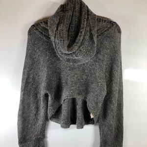 Free People Cropped Cowl Neck Sweater